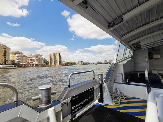 Uber Boat by Thames Clippers - Single River Journey on the Thames: Travelled on Wednesday 23rd June 2021 as part of a day trip to London. Arriving from the cable car I made my way to the Greenwich Peninsula Uber Boat/Thames Clipper pier where I attempted to purchase a discounted ticket but like the cable car journey was advised it was cheaper to just do tap and go using my debit card for my boat journey to Westminster Pier. Quite quiet when I went and I found it fun and easy, especially in good weather. Bit of competition to get exterior seats