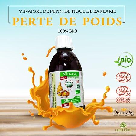 Tunisi, Tunisia: Le Vinaigre de Figue de Barbarie possède des propriétés extraordinaires pour lutter contre le surpoids : Il améliore la digestion et fait dégonfler le ventre. Il oblige les cellules graisseuses à se vider. Il force l'organisme à brûler davantage de graisses, même au repos. Il capte l'eau piégée dans les tissus pour permettre à l'organisme de l'éliminer. Il contient des acides aminés qui régulent l'appétit et évitent l'énervement qui fait souvent obstacle à la réussite d'un amincissement.