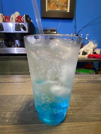 Soda italiana, mora azul