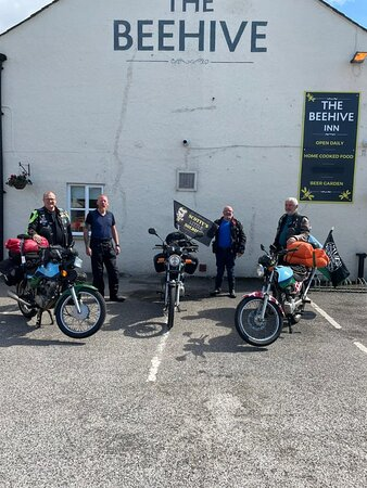 The Royal Signals Charity Bikers, paying a visit to our pub on their route.