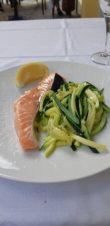 saumon et courgettes