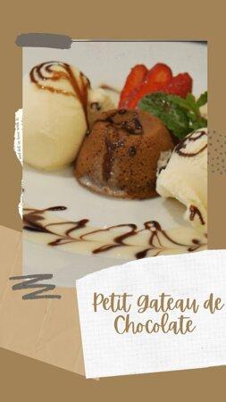 Petit Gateau de Chocolate