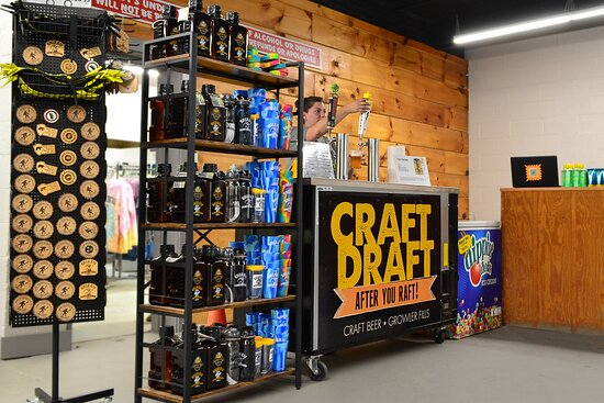 Grab a refreshing Craft Draft After You Raft in our Gift Shop! We have local brews waiting for you after you return.