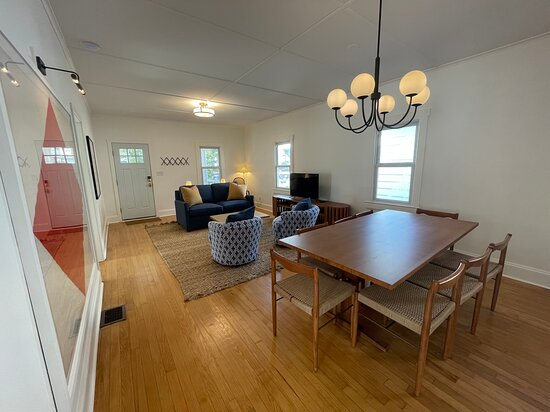 Unit 18 living room and dining area