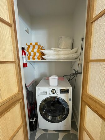 Beach towels and all-in-one washer/dryer unit available in all units!