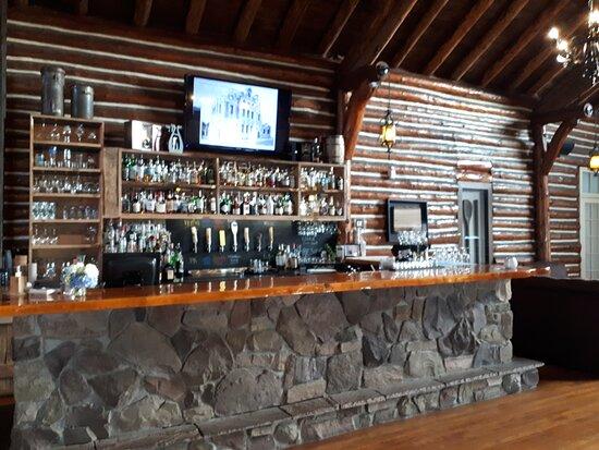 The beautiful rustic bar