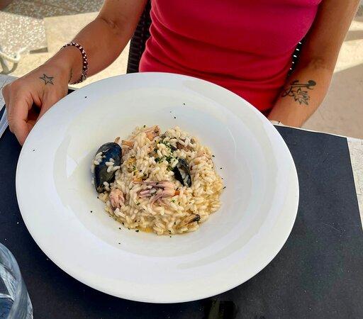 Oggi un fuori  menù inaspettato … risotto con frutti di mare … top 😋