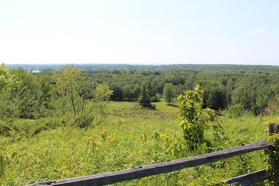 The old ski hill overlook.