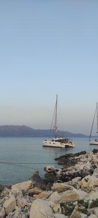 Catamaran long lined at Kastos