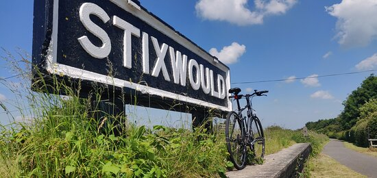 Old Stixwould Station on the Water Railway.  Part of  National Cycle Route 1