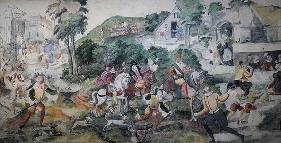 Mechelen Onze-Lieve-Vrouw-over-de-Dijlekerk, wall painting Parable of the Prodigal Son