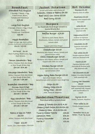 Baffles menu