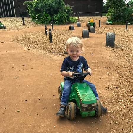 The tractor trail was a real hit with our son!