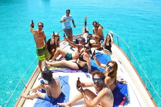 Half Day Boat Excursion 6-8 South beaches of Menorca