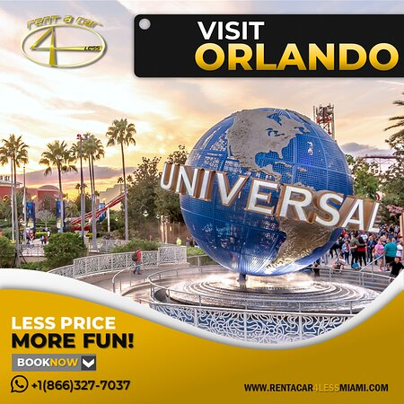 Miami, FL: Give yourself an unforgettable vacation! . Visit Orlando's wonderful parks and enjoy the lovely tropical weather! . Rent a Car 4 Less Less Price More Fun!