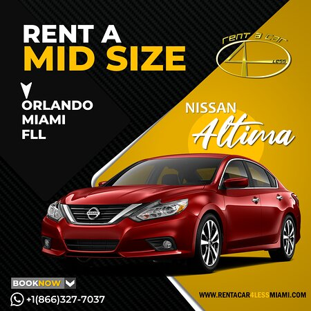 Miami, FL: A MIDSIZE vehicle that fits whit your style! Rent whit us this awesome Nissan Altima today! . Contact us right now to rent this vehicle! +1(866)3277037 . Rent A Car 4less Less Price More Fun