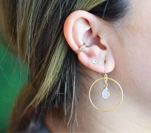 Super cute earrings for every occasion, handmade right here in our downtown Waco jewelry studio!
