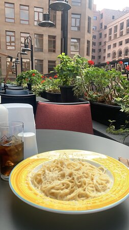 Tasty food and beatiful view