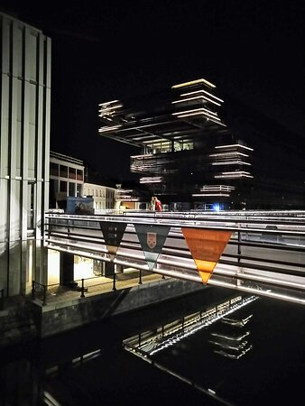 De Krook Library by night. Ben's Ghent - Free & Private Tours