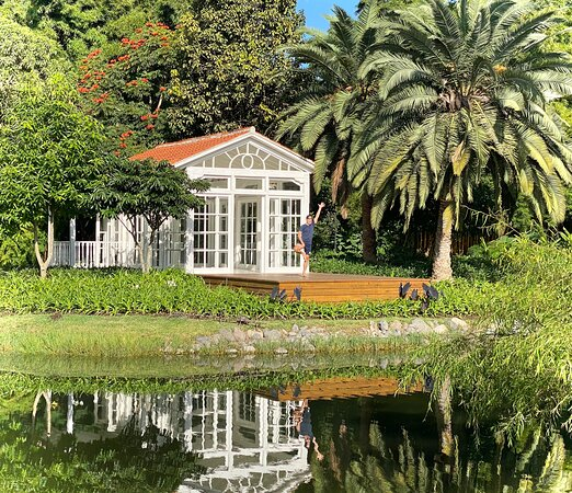 This conservatory could be used for yoga, a wedding ceremony, or a group dinner.
