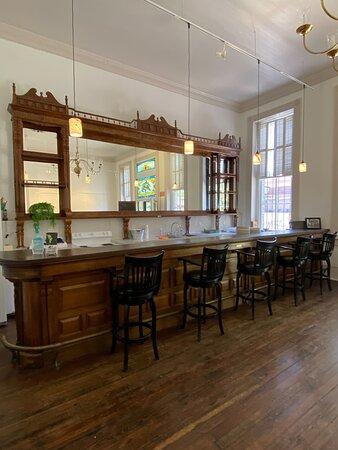 Original bar of the Old Brunson Saloon.