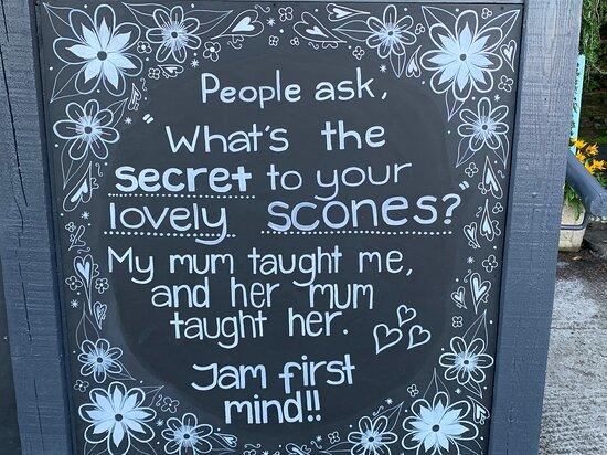 The secret of our scones