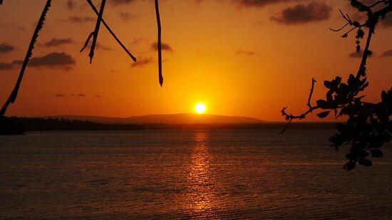 sunset through open view