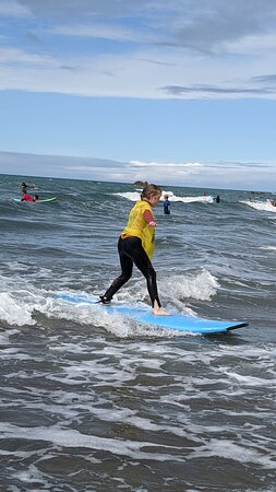 Awesome surfing lesson with Freewave Surf Academy, Bude, Cornwall, UK