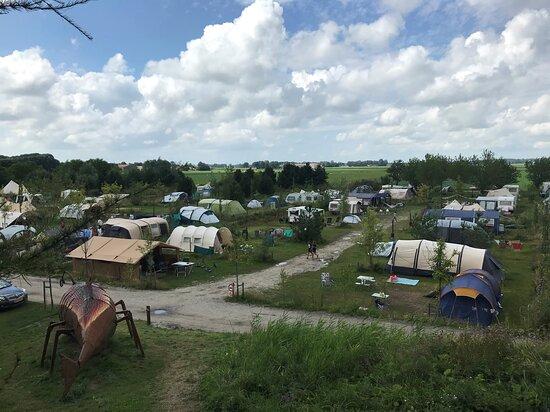 Kraggenburg, Hollanda: Part of the campsite - the UFO field
