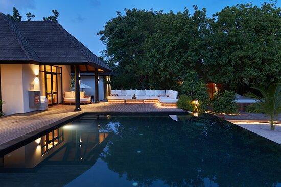 JA Manafaru - Three Bedroom Island Residence with Family Pool & Private Pool. The Main Terrance  Lounge