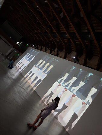 """Punta della Dogana, Pinault Collection: vista di una sala della mostra:  """"Bruce Nauman: Contrapposto Studies"""""""