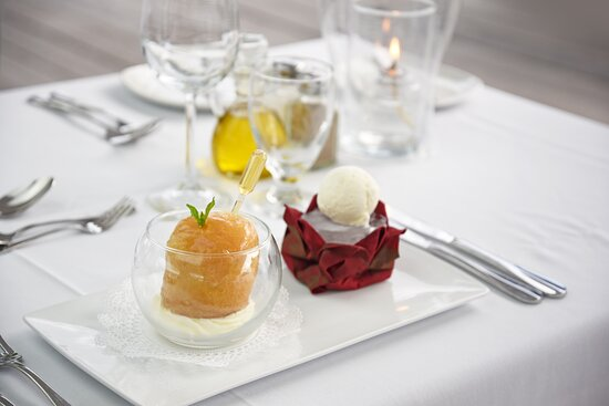 The Beach House Rum Baba - served with Vanilla Ice Cream, Creme Chantilly and 12 year old Barbados Rum.