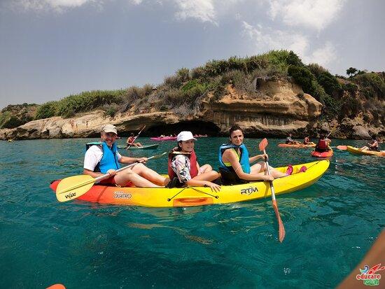 Percorso Kayak Scogliere di Nerja e Maro - Cascada de Maro + Snorkel: UN DIA MARAVILLOSO