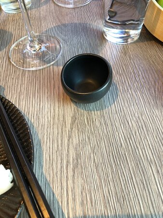 This sakecup is provided for the soy sauce - totally wrong!