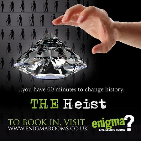 The Heist is one of our more difficult rooms, still fun, but for those who really want a challenge.