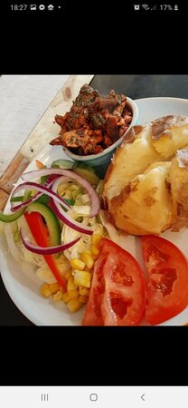 Jacket potato with variety of fillings
