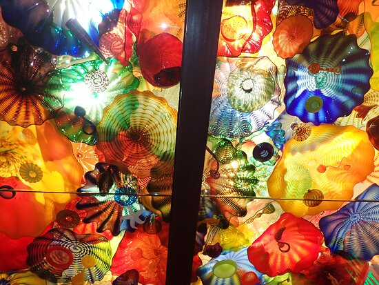 Chihuly Garden and Glass em Seattle: A view of the Persian Ceiling Room