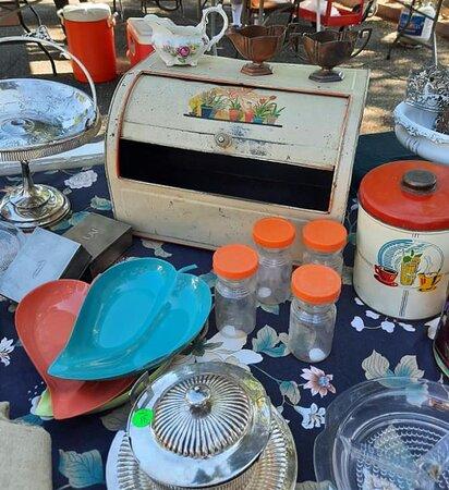 Retro and antique kitchen wares. 40's, 50's 60's