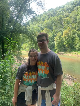 My son and his girlfriend with Green River behind
