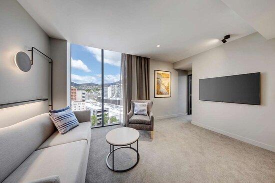 vibe hotel hobart junior suite lounge