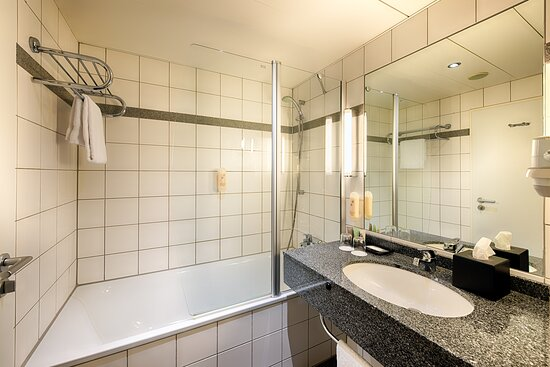 private bath room with tub - shower combination