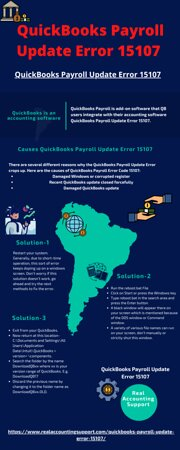 États-Unis : QuickBooks is an accounting software geared mainly toward small and medium-sized business and offer on-premises accounting applications as well as cloud-based versions for business management. QuickBooks Payroll is add-on software that QB users integrate with their accounting software QuickBooks Payroll Update Error 15107.