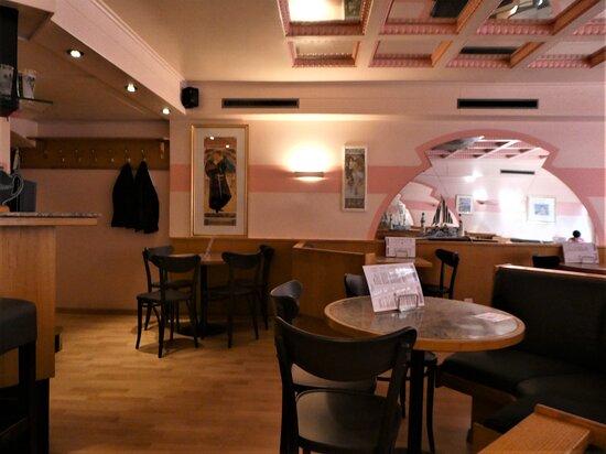 the upstairs tea-room