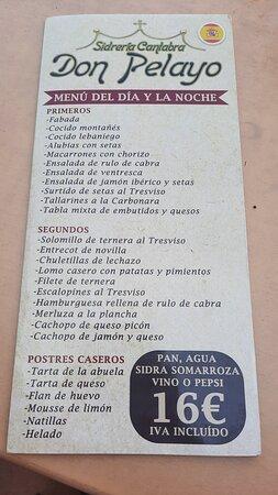 Rte. Don Pelayo Pueblo de Potes,nada mas entar.
