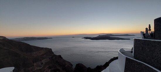 Caldera view after the sunset.