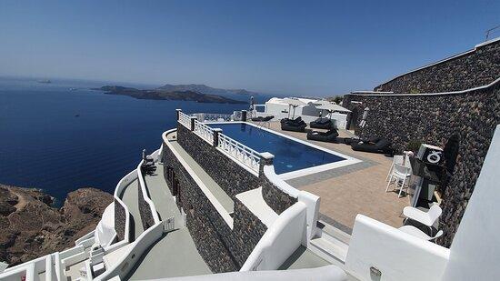 The pool area (: