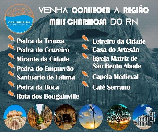 Curta o roteiro de charme e cultural da região com a Catingueira Turismo.