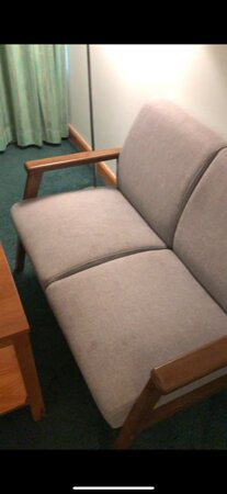the couch had stains, I'm pretty sure that can be fixed and cleaned properly. plus, they were no towels in the room