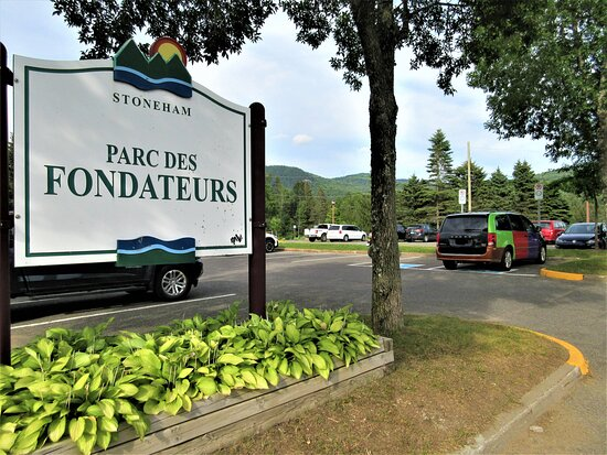 Stoneham-et-Tewkesbury, كندا: Le parc des Fondateurs, accès à  la rivière Huron.  