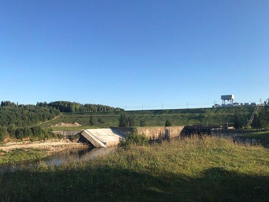 Zubtsov, Nga: Зубцовская плотина, образующая Вазузское водохранилище